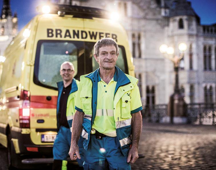 Brandweerman-ambulancier Gerrit Naudts